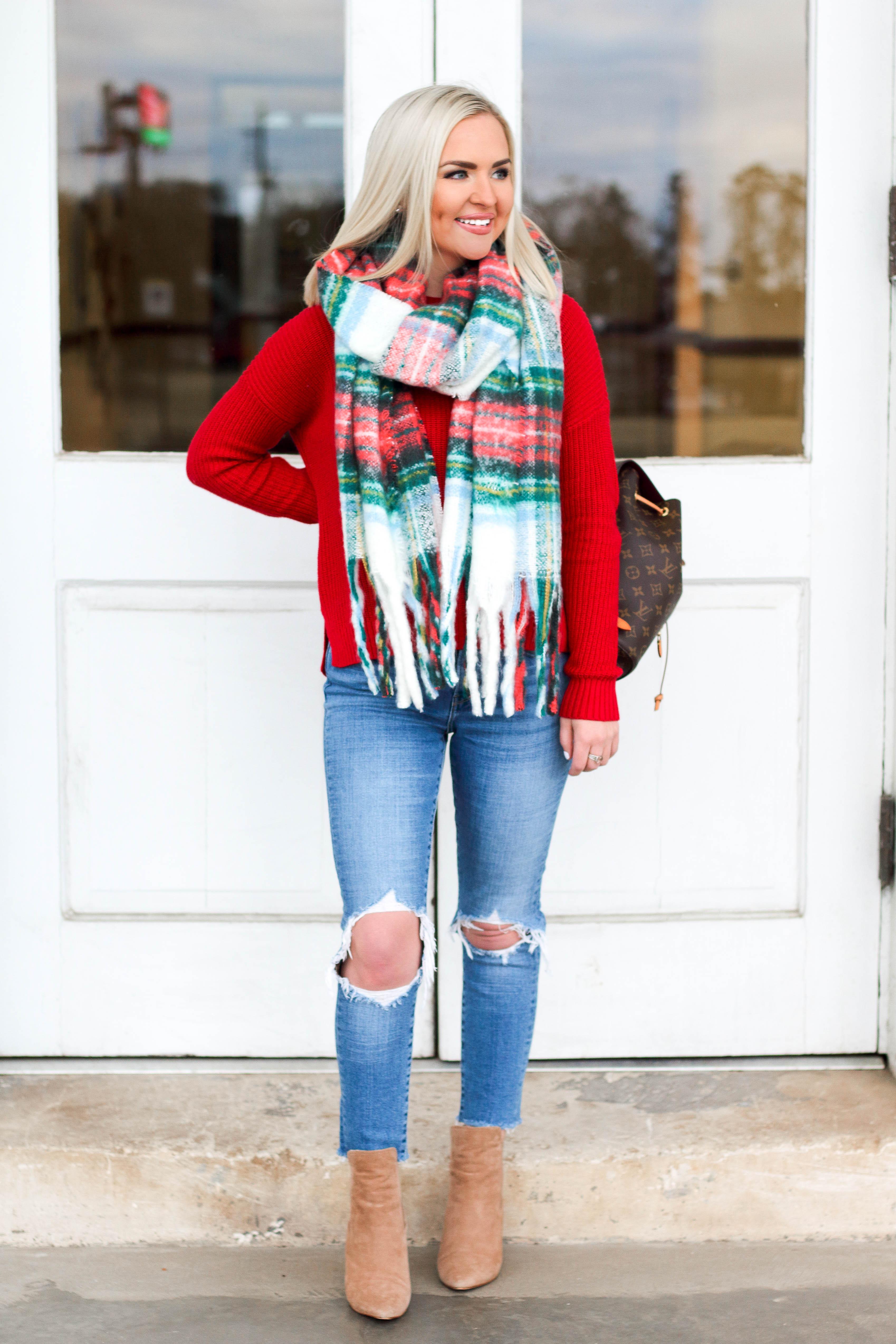 $14 Christmas Blanket Scarf