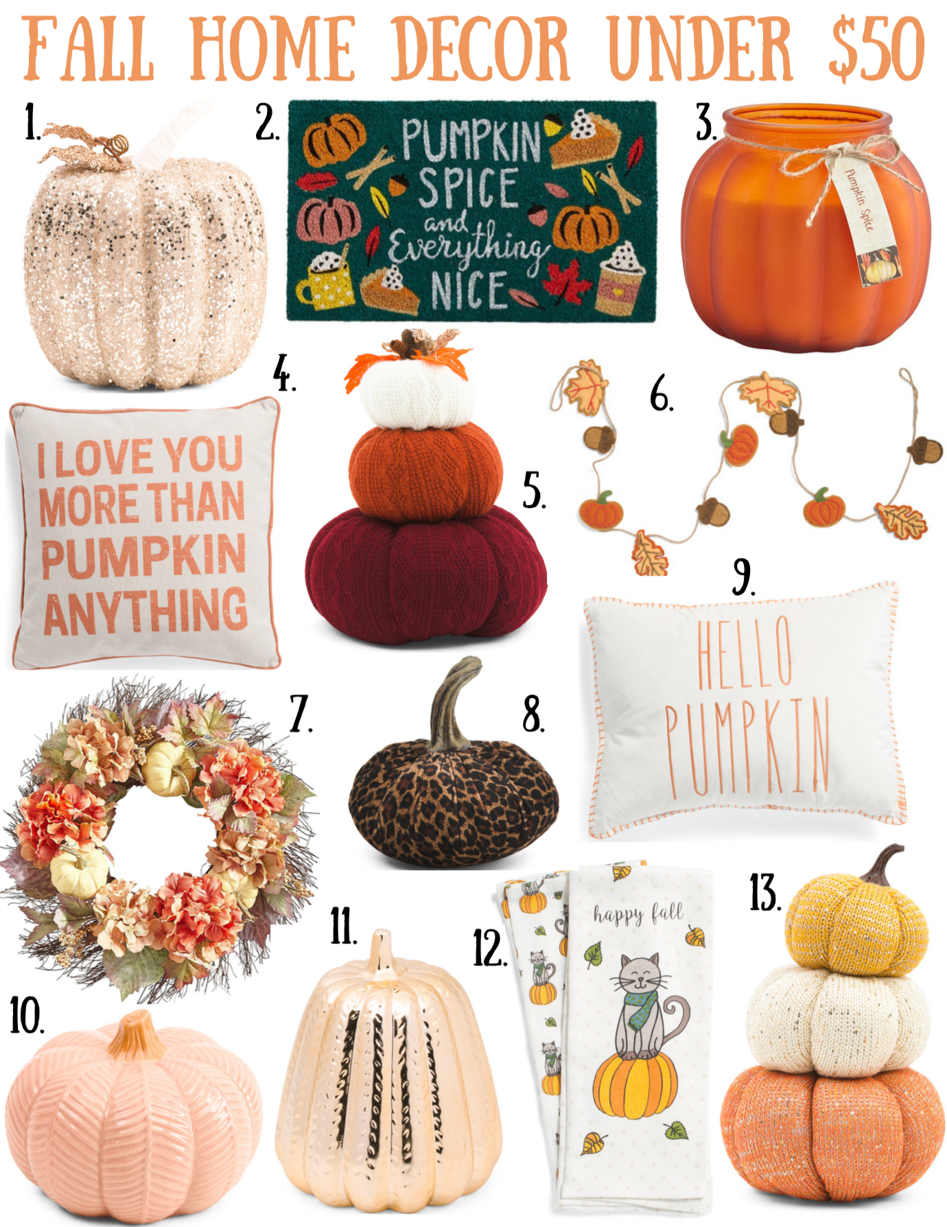 Fall Home Decor Under $50