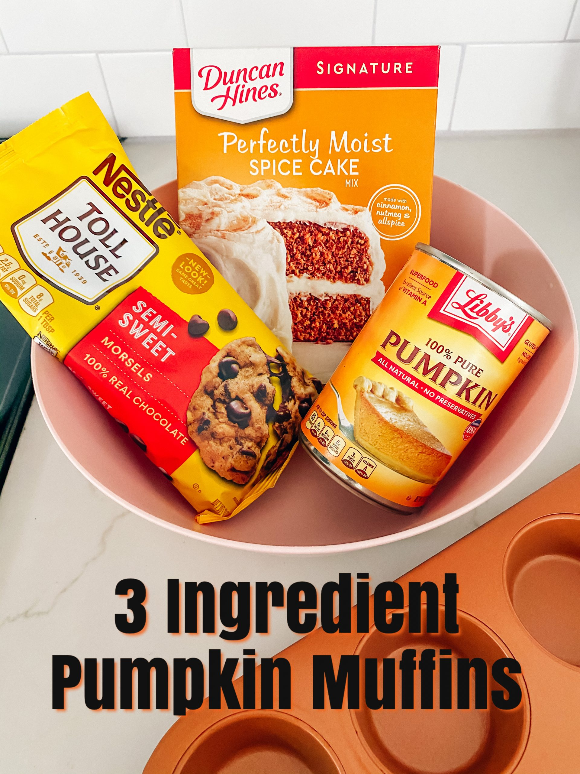 3 Ingredient Pumpkin Muffins
