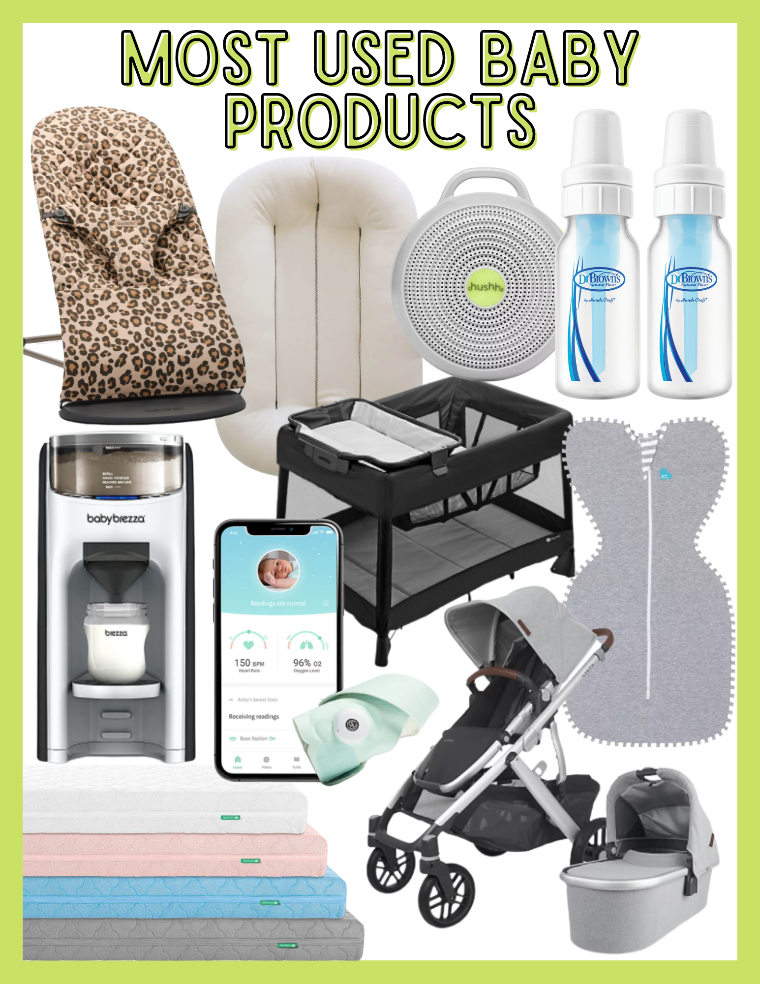 Most Used Baby Products